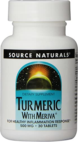 Source Naturals Turmeric with Meriva 500mg for Healthy Inflammatory Response – 30 Tablets