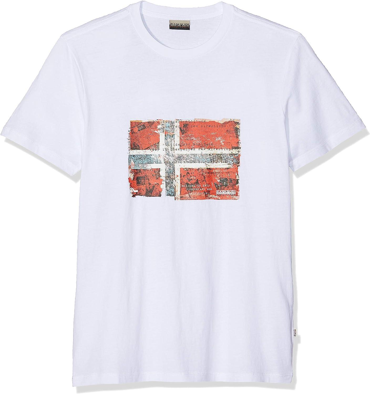 Napapijri Seitem Bright White Camiseta para Hombre: Amazon.es: Ropa y accesorios