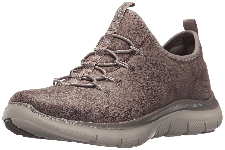 Skechers Women's Flex Appeal 2.0 Top Story Sneaker B0721P2XDC 7.5 B(M) US Dark Taupe