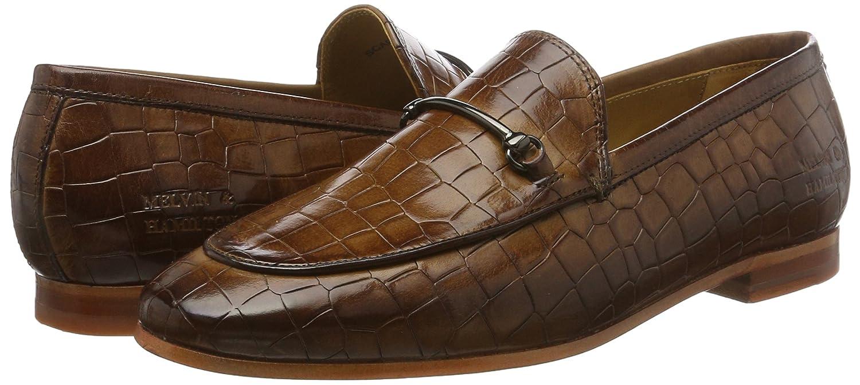 MELVIN & Schuhe HAMILTON MH HAND MADE Schuhe & OF CLASS Damen Scarlett 1 Slipper Braun (Crock Tan Ls Nat.) 347f2d