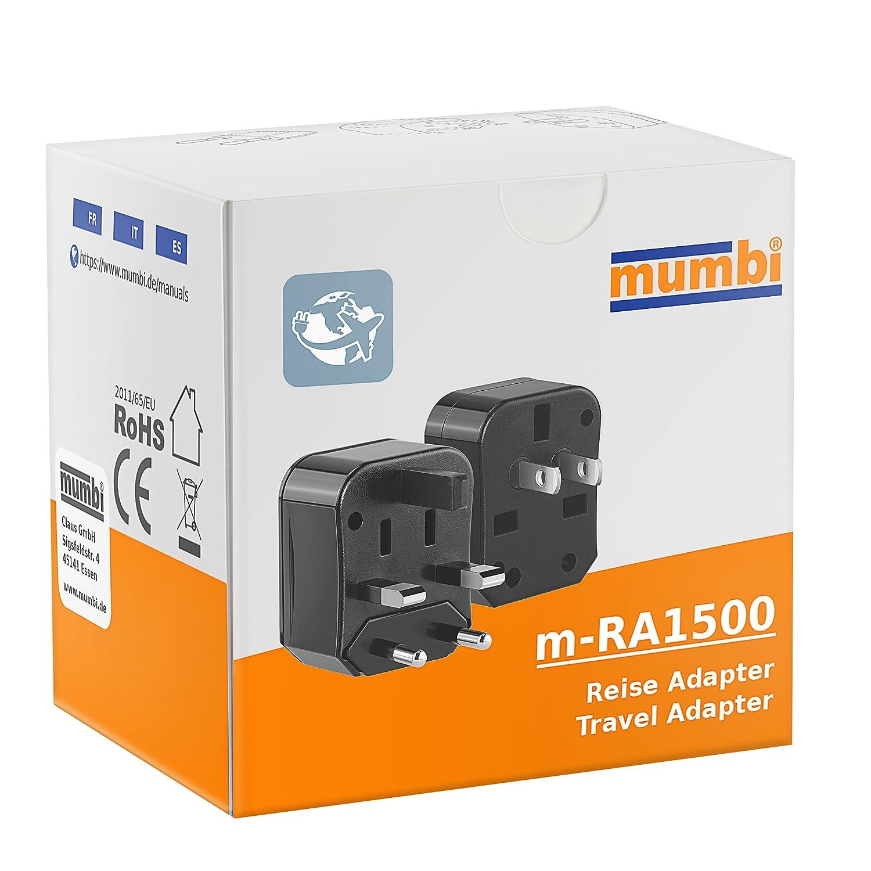 EEUU, China, Jap/ón, Canad/á, Australia, UK /Adaptador de Viaje Universal Compacto Adaptador de Viaje para enchufes Mumbi/
