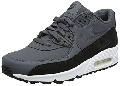95df292f8e Nike Men's Air Max 90 Essential Trainers, Multicolour (Black/Dark Grey White  085