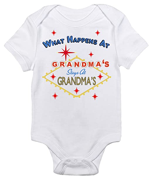 80543fa37de What Happens at Grandma s Stays at Grandma s Baby Bodysuit Cute Baby Clothes  (0-3
