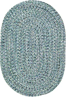 product image for Capel Rugs Sea Pottery Oval Braided Area Rug, 7' x 9', Blue