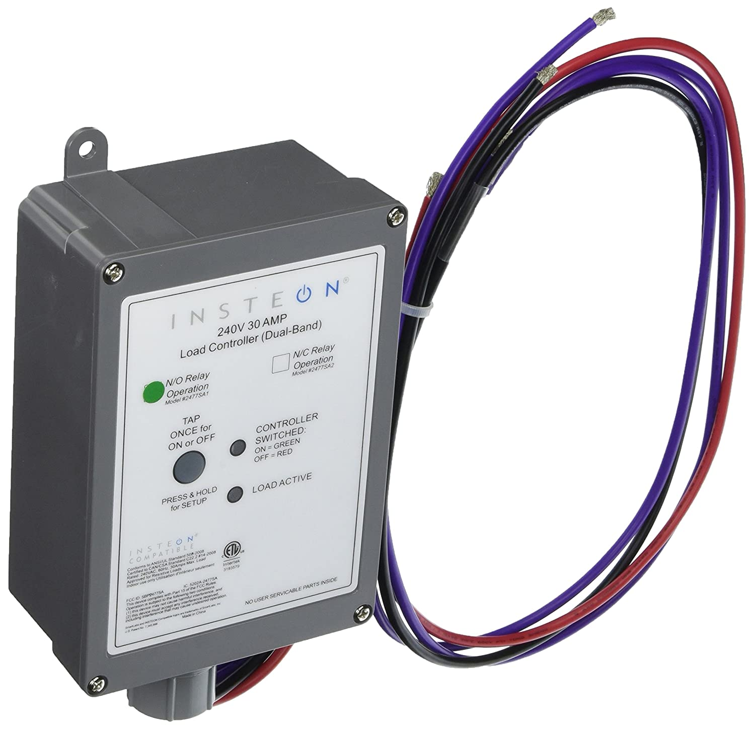 Insteon SA Insteon DualBand V  V AMP Load - Normally open relay vs normally closed relay