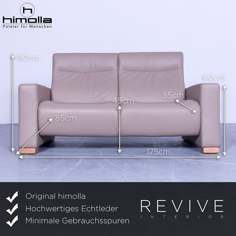 Wundervoll Himolla Sofa Dekoration Von Conceptreview: Designer Relax Garnitur Beige Leder Zweisitzer