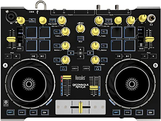 10 opinioni per Hercules DJ Console RMX2 Premium DJ Controller Midi USB + Traktor LE2