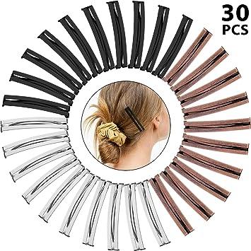 A Black Buckle Design Lightweight Barrette Hair Clip