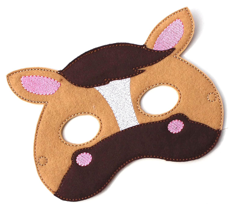 Costume Felt Mask Party Favors Pony Animal Face Mask Kids Face Mask Kids Horse Mask Pretend Play Horse Costume Dress Up Halloween Costume