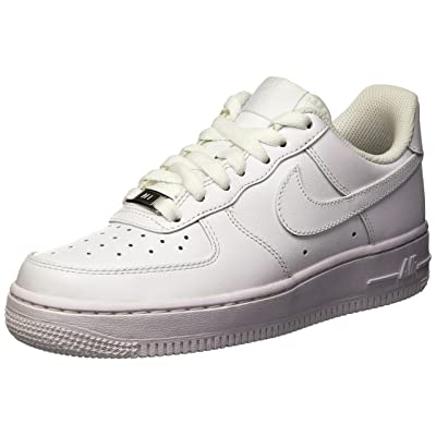 Nike Women's Air Force 1 '07 (5, White/White) | Basketball