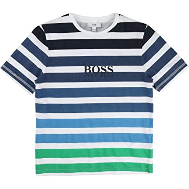 93cc9525 Image Unavailable. Image not available for. Color: Hugo Boss Kids Little  Boys T-Shirt Short Sleeve ...