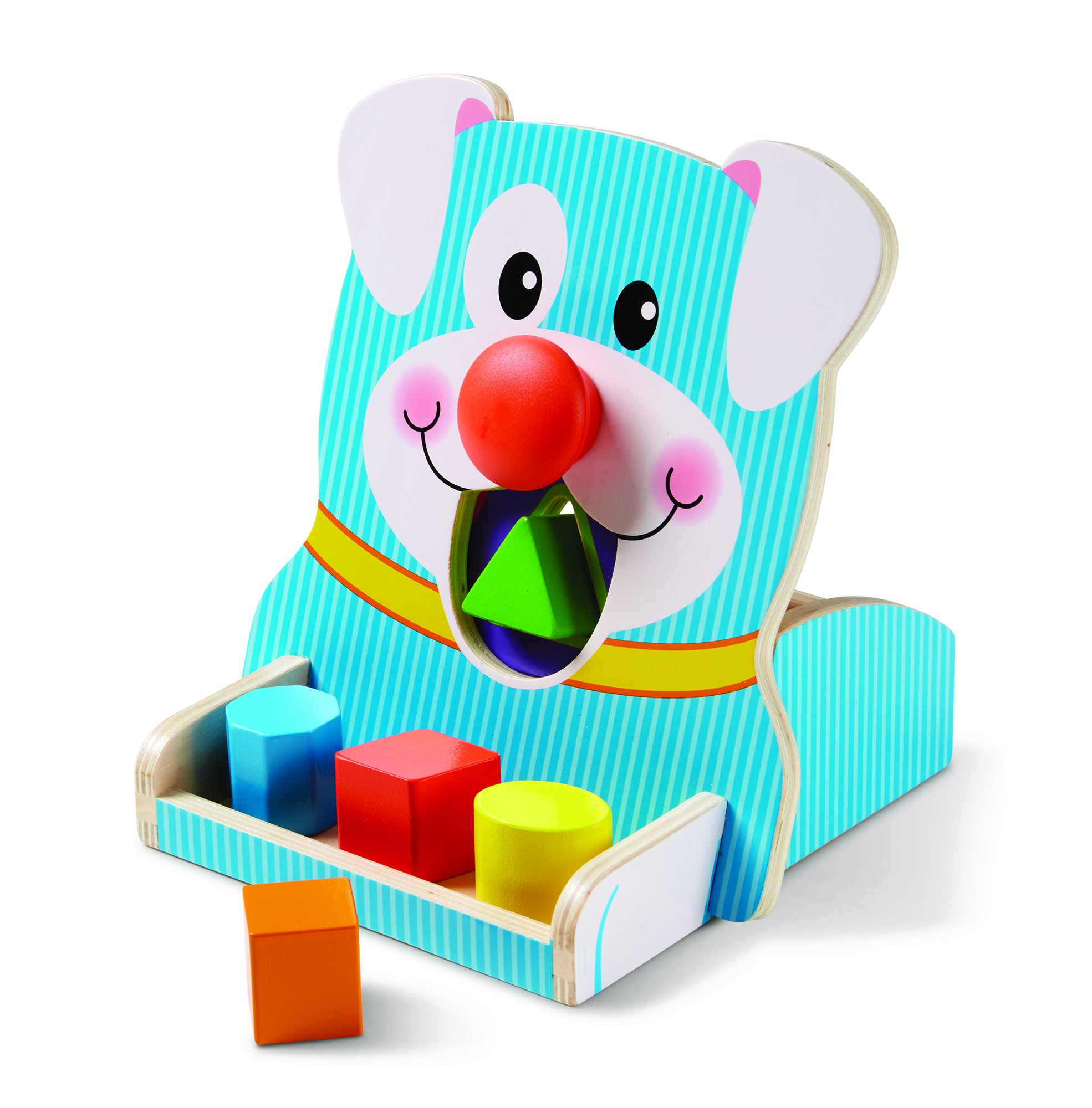 Melissa & Doug Spin & Feed Shape Sorter Baby Toy, Multi