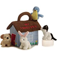 """EBBA My First Pet Baby Talk Activity Set with 6"""" Carrier and 2""""-4"""" Animals with Sound"""