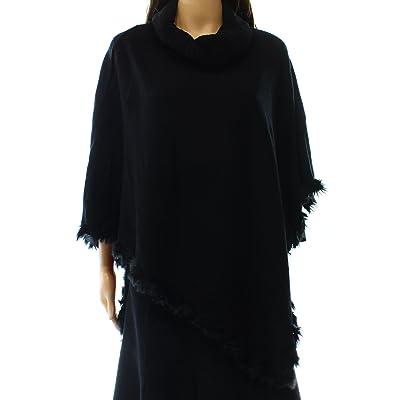 Alfani Women's Faux-Fur-Trim Poncho Sweater