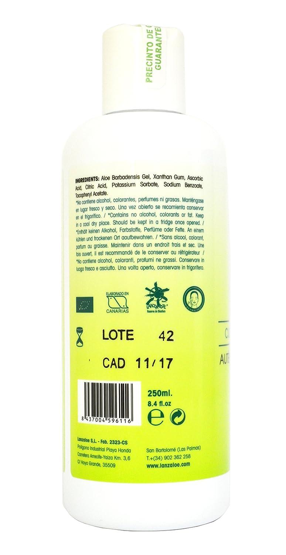 Lanzaloe Gel Puro de Aloe Vera 250 mililitros