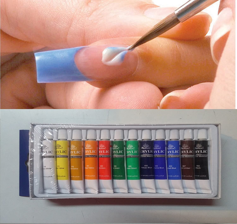 Cwr 040132 Scatola 12 Colori Acrilici, 12 x 12 ml C.W.R. S.R.L.