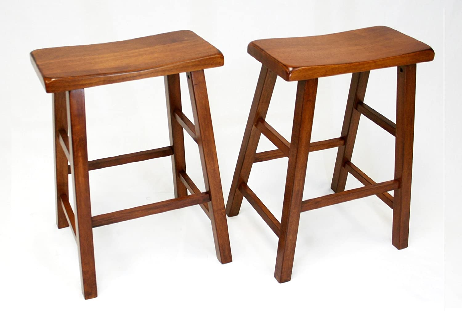 Amazon.com eHemco 24  Heavy Duty Saddle Seat Barstool in Dark Oak Set of 2 Kitchen u0026 Dining  sc 1 st  Amazon.com : bar stool saddle seat - islam-shia.org