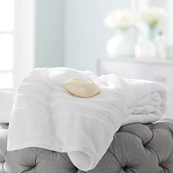 Hotel Premier Collection - Toalla de baño (100% algodón), color blanco: Amazon.es: Hogar