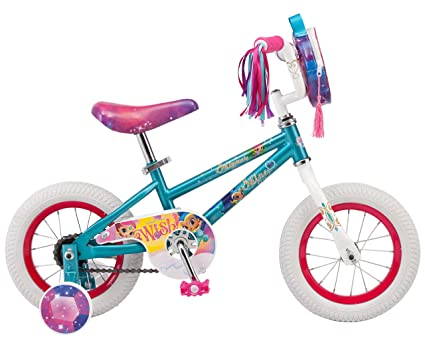 b5e8a4d205d0 Nickelodeon Shimmer & Shine Girl's Bicycle With Training Wheels, 12-Inch  Wheels, ...