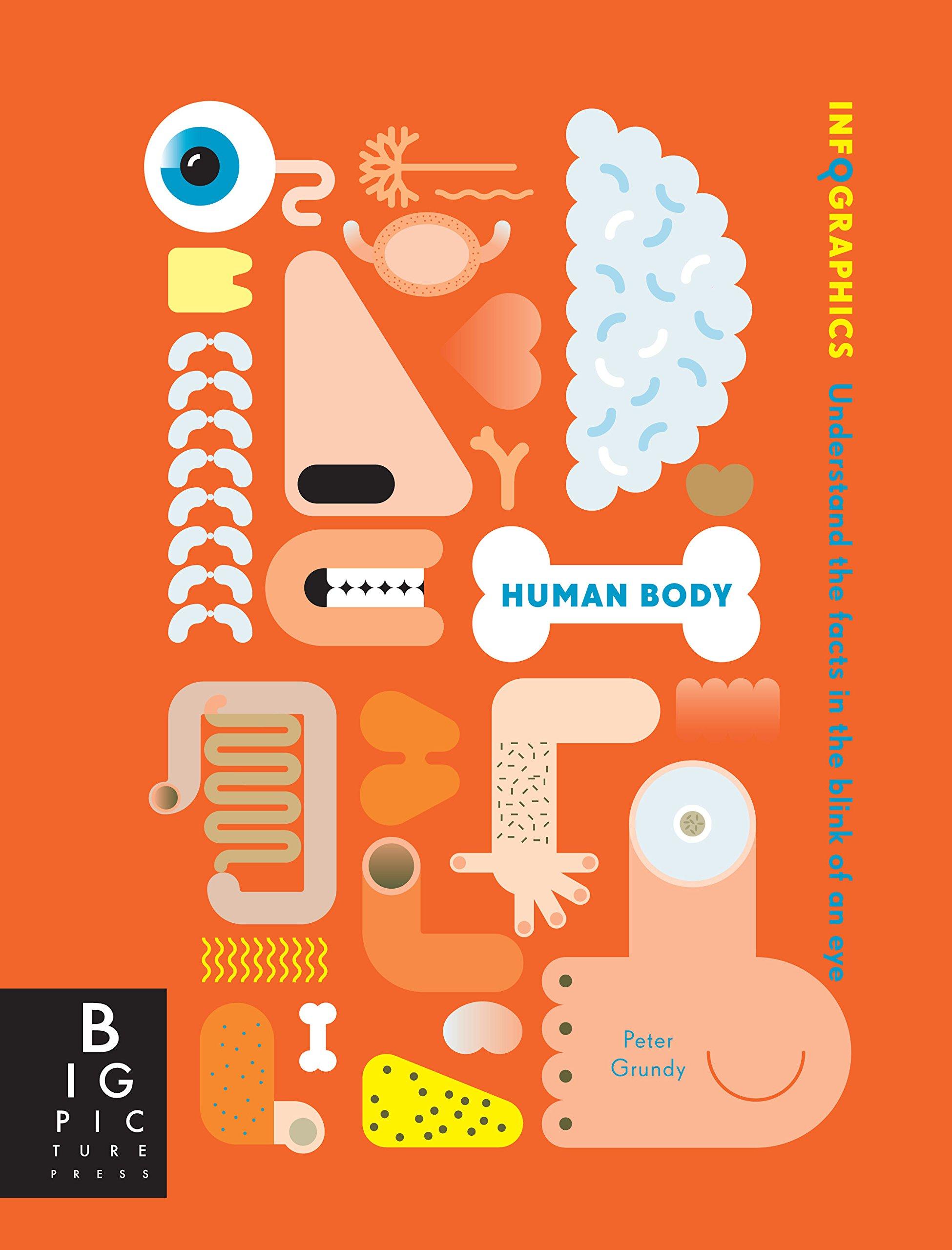 Image result for كتاب (إنفوغرافيك الجسم البشري) Infographics: Human Body لـ بيتر غراندي وسميون روجرس: