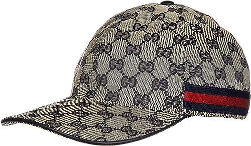 Gucci sombrero en algodón ajustable hombre nuevo blu: Amazon.es ...