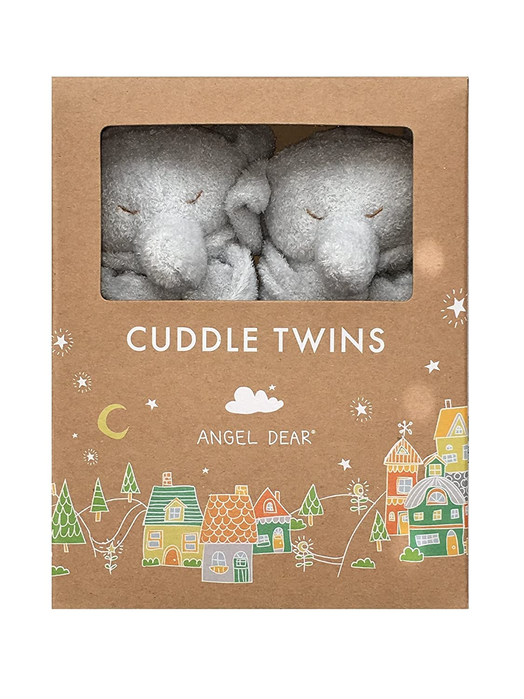 Angel Dear Grey Elephant Blankie Cuddle Twin Set.
