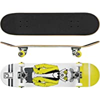 "Roller Derby Rd Deluxe Series Skateboard Mr. Bear, Multicolor, 31"" x 8"""