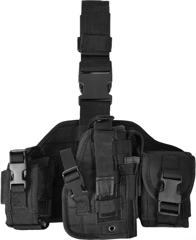 normani Pistolen-Beinholster mit extra gro/ßen Zubeh/ör-Taschen