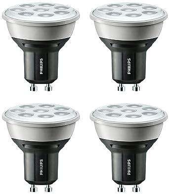 Philips - Bombilla LED (GU10, 5 W potencia: 50 W, regulable,