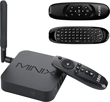 MINIX Neo U1 Android Lollipop 5.1.1 Smart TV Box Kodi/XBMC Amlogic S905 Quad-core HDMI2.0 2GB/16GB Dual-Band 2x2 MIMO WiFi Gigabit Ethernet Bluetooth 4.1 / Plater® C120 Double-sided Wireless Air Mouse: Amazon.es: Electrónica