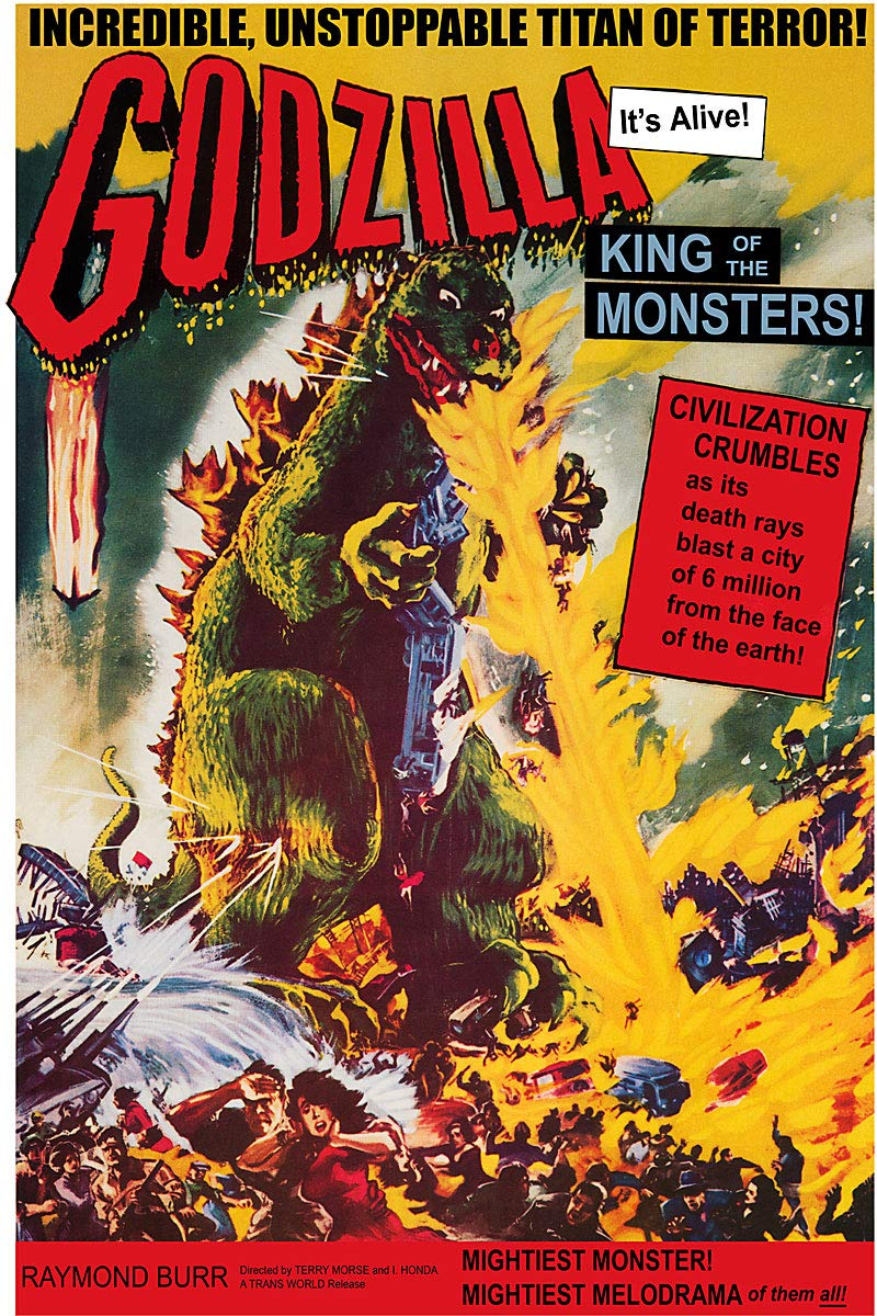 American Gift Services - Vintage Science Fiction Movie Poster Godzilla King of The Monsters - 11x17