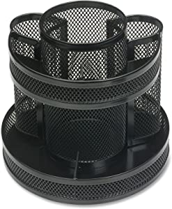 Business Source Rotary Mesh Organizer