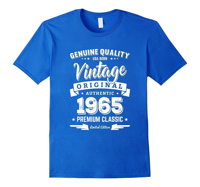 1965 Vintage Birthday Present T-Shirt - 52nd Birthday Gifts-FL