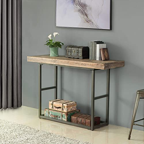 FirsTime Co. Stuart Rustic Farmhouse Console Table, American Crafted, Weathered Brown, 54 x 19 x 36.5 ,