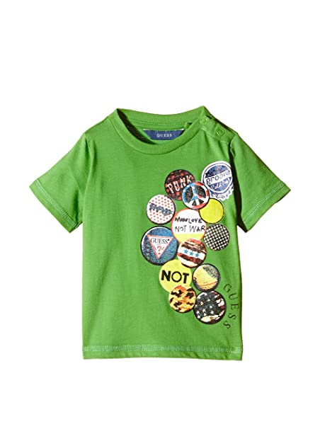 big sale 9b3e8 05440 Guess T-Shirt Manica Corta SS Verde 6 Mesi (68 cm): Amazon ...
