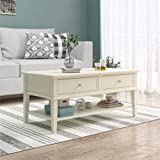 Ameriwood Home Franklin Coffee Table, Soft White
