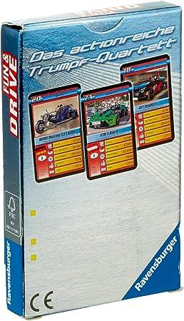 Ravensburger Jeu de cartes Super Atout Quatuor Fun /& Drivejeu à partir de 7 ans