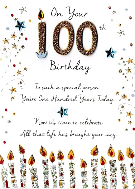 Amazon Just To Say On Your 100Th Birthday Greeting Card Second Nature Cards Office Products