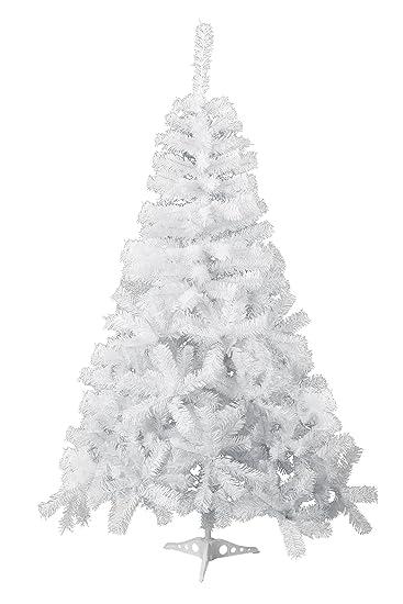 gojooasis 5 artificial christmas tree premium spruce hinged eco friendly xmas pine tree white