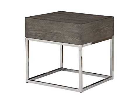 Amazon.com: Acme muebles 84582 Cecil II mesa auxiliar, roble ...