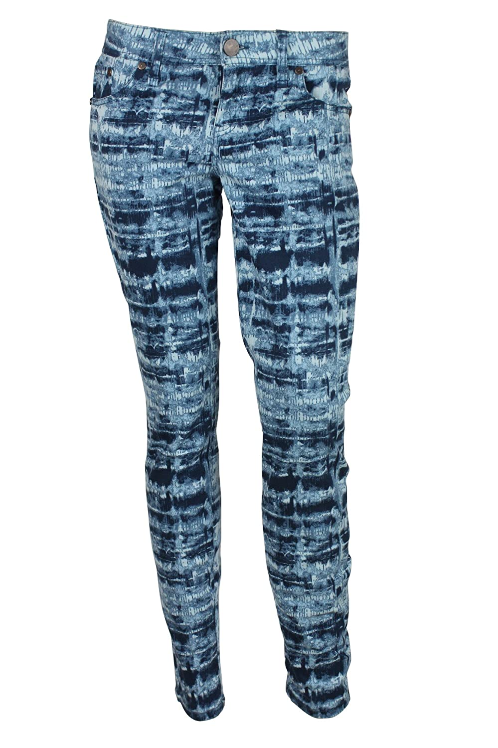 Sanctuary Surplus Womens Blue Tie Dye Printed Skinny Jeans