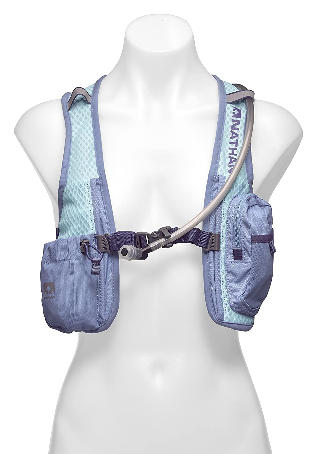 Nathan Intensity Hydration Running Vest Backpack with Bladder, Blue Radiance, 2 L