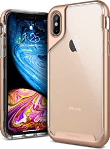 Caseology Skyfall for Apple iPhone Xs Case (2018) and iPhone X Case (2017) - Gold
