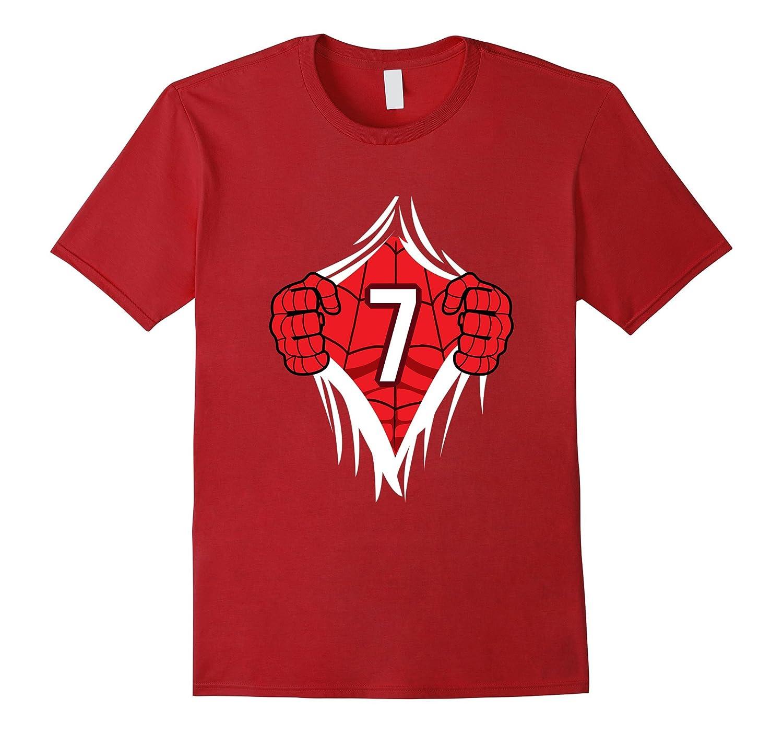 1903d3cfd Superhero Birthday Shirt 7 Year Old Tshirt Girls Boys Comic-CL ...