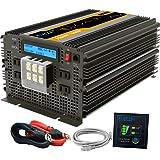 EDECOA 正弦波インバーター 3500W インバーター DC 12Vを100V 110V ACへ変換 50Hz/60Hz LCDディスプレイ及びリモコン搭載 インバーター 12v 電源