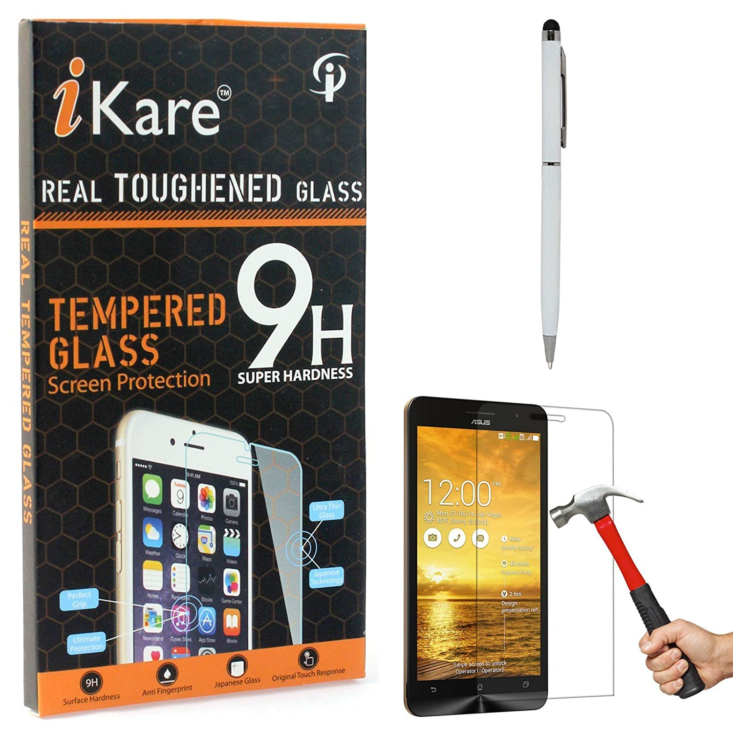 iKare Tempered Glass for Asus Zenfone 5, Tempered Screen Protector
