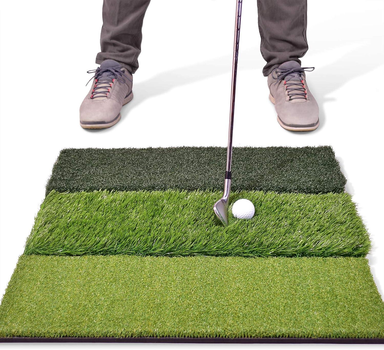 GoSports Tri-Turf XL Golf Practice Hitting Mat | Huge 24