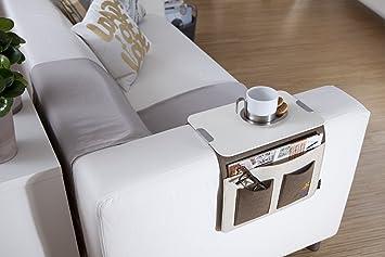 Sofa Butler Carry Mit 4 Taschen Und Ablageplatte Hellgraudunkelgrau