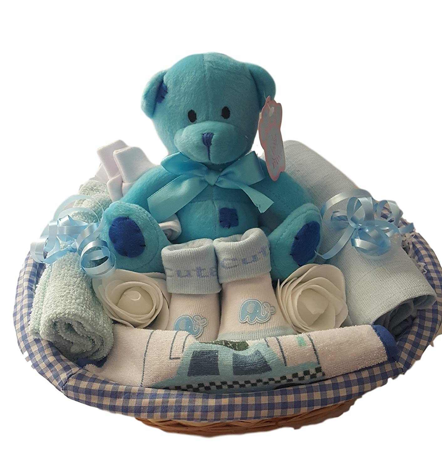 Baby Gift Basket Boy. Baby Gift Hamper Boy. Baby Gift Set Boy. Baby Shower Gift Basket. New Baby Gift. The Gift Basket Boutique