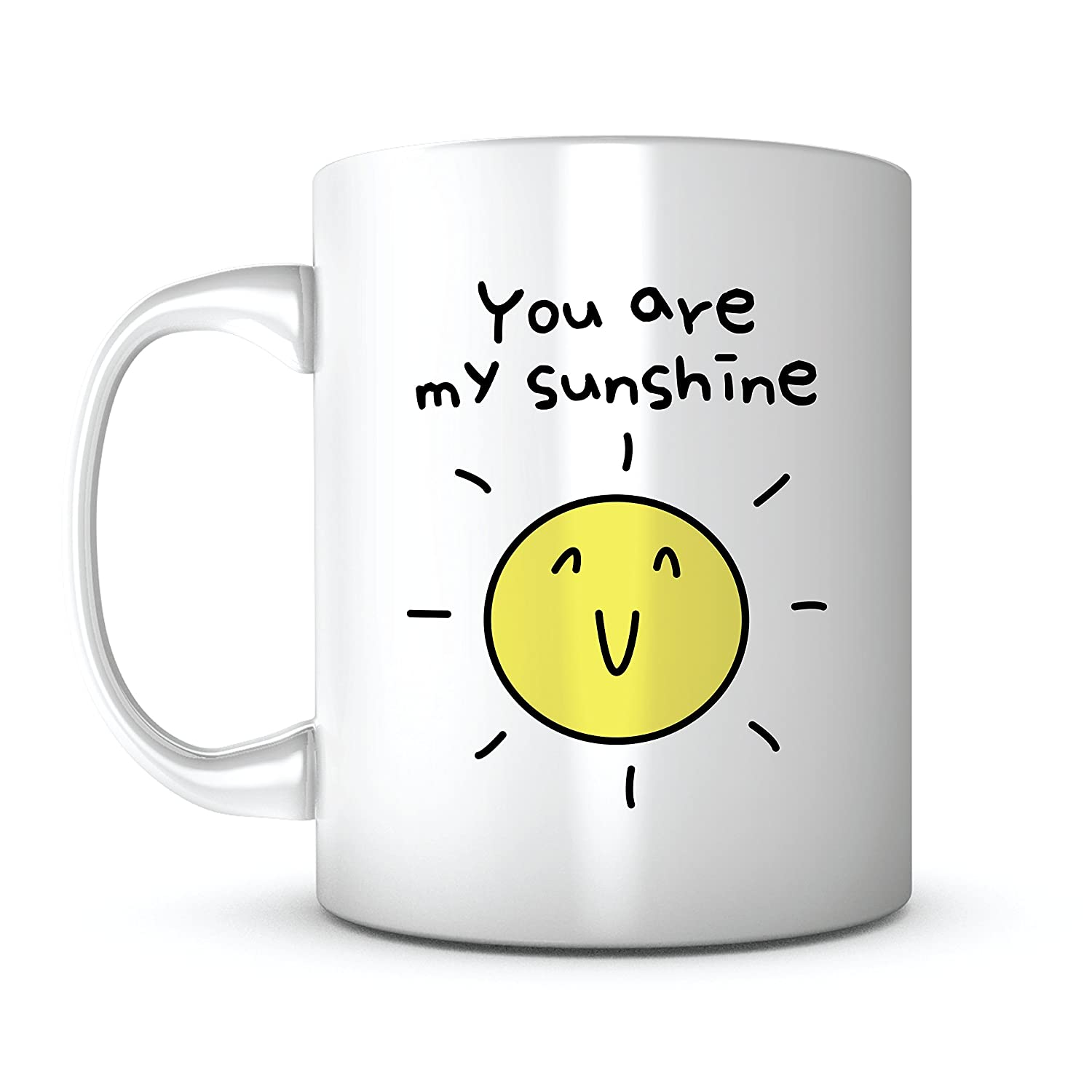 You Are My Sunshine-Gift Mug Ideas Coffee Mug Quotes Sayings for Valentines Day/Mother's Day/Father's Day/Birthday Gift/Friends/Coworker/Men/Girlfriend/Boyfriend/Ceramic 11OZ Personalized Tea Mug (1) Print Supremacy